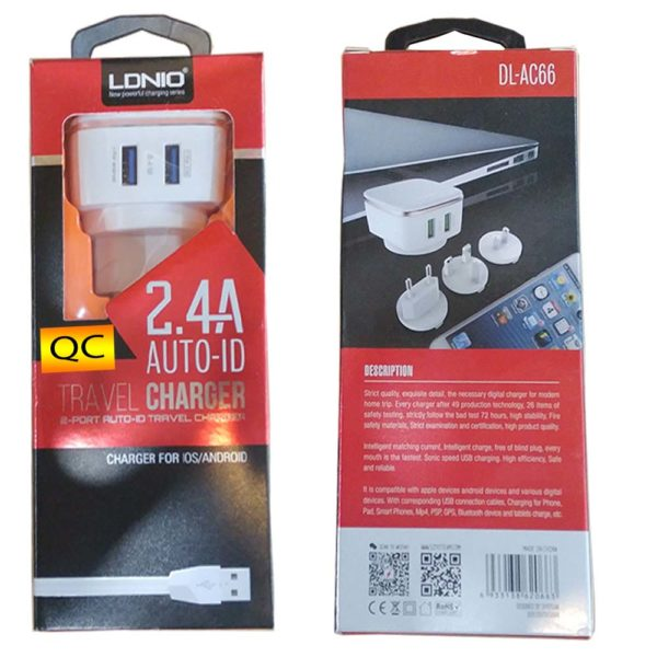 travel charger 2.4A Auto ID
