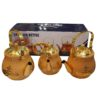 3 peice Stainless Steel Golden Color Kattle Set