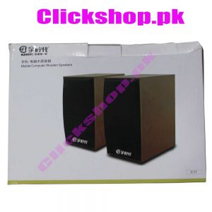 V-11 Mobile Computer Wooden Speakers - shop online in pakistan